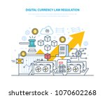 digital currency law regulation.... | Shutterstock .eps vector #1070602268