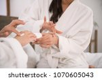 body care. nice young woman... | Shutterstock . vector #1070605043