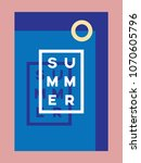 summer poster or card vector... | Shutterstock .eps vector #1070605796