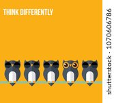 think differently   being... | Shutterstock .eps vector #1070606786