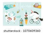 hand drawn vector abstract... | Shutterstock .eps vector #1070609360