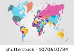 color world map vector | Shutterstock .eps vector #1070610734