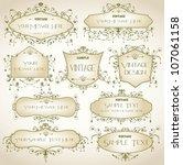 vintage ornament elements | Shutterstock .eps vector #107061158