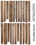 wooden planks isolated on white ... | Shutterstock . vector #1070622953
