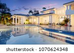 expensive private villa.... | Shutterstock . vector #1070624348