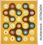 retro communication concept...   Shutterstock .eps vector #107062604