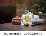 thai spa massage compress balls ... | Shutterstock . vector #1070629544