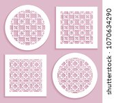 templates for laser cutting ... | Shutterstock .eps vector #1070634290