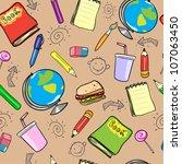 seamless school background ... | Shutterstock .eps vector #107063450