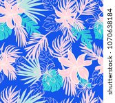 hipster exotic tropical pattern ... | Shutterstock .eps vector #1070638184