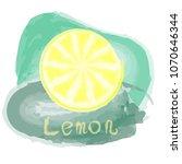 vector illustration lemon ... | Shutterstock .eps vector #1070646344