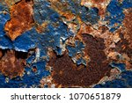 rust. texture of rusty metal... | Shutterstock . vector #1070651879