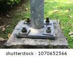 welded pole to base plate and... | Shutterstock . vector #1070652566