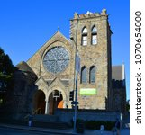 Small photo of SAN FRANCISCO CA USA 04 12 15: First Unitarian churches emerged in Eastern Europe during the 16th &17th centuries. Unitarianism in the United States and Great Britain dates from the early 18th century