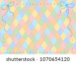 ribbon and stitch frame | Shutterstock .eps vector #1070654120