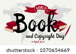 world book and copyright day... | Shutterstock .eps vector #1070654669