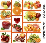 collage from ripe fruit | Shutterstock . vector #107066108