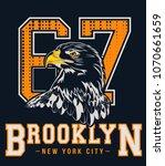 handmade sketch eagle...   Shutterstock .eps vector #1070661659
