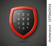 shield with electronic... | Shutterstock . vector #1070663426