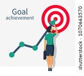 achievement goal concept.... | Shutterstock .eps vector #1070663570