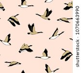 vector seamless pattern with... | Shutterstock .eps vector #1070663990