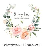 card. watercolor invitation... | Shutterstock . vector #1070666258