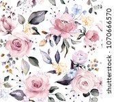 seamless pattern with spring... | Shutterstock . vector #1070666570