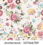 seamless summer floral pattern   Shutterstock .eps vector #107066789