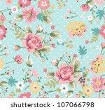 seamless summer floral pattern... | Shutterstock .eps vector #107066798