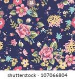 seamless summer floral pattern... | Shutterstock .eps vector #107066804