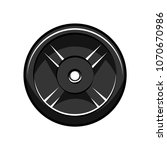 disc barbell. sport icon.... | Shutterstock .eps vector #1070670986