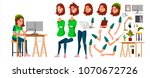 young business woman character... | Shutterstock .eps vector #1070672726