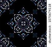 decorative hand drawn seamless... | Shutterstock .eps vector #1070674118
