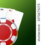 casino concept. background with ... | Shutterstock .eps vector #1070675273
