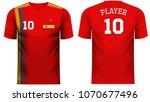 spain national soccer team... | Shutterstock .eps vector #1070677496