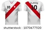 peru national soccer team shirt ... | Shutterstock .eps vector #1070677520