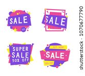 sale banner collection ... | Shutterstock .eps vector #1070677790