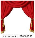 red curtain vector in white... | Shutterstock .eps vector #1070681558
