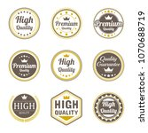 quality badge vector collection.... | Shutterstock .eps vector #1070688719