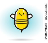 cute little bee isolated on... | Shutterstock .eps vector #1070688833