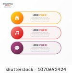 infographic template with 3... | Shutterstock .eps vector #1070692424