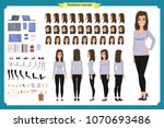 young woman  casual clothes.... | Shutterstock .eps vector #1070693486