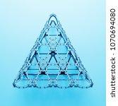 3d render abstract  geometrical ... | Shutterstock . vector #1070694080