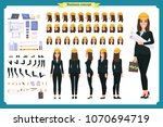 woman architect in business... | Shutterstock .eps vector #1070694719