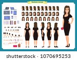 girl in evening dress character ... | Shutterstock .eps vector #1070695253