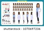 female doctor character... | Shutterstock .eps vector #1070697236