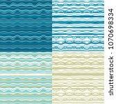 waves seamless pattern set.... | Shutterstock .eps vector #1070698334