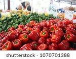 fresh paprika in a market | Shutterstock . vector #1070701388