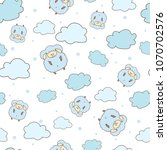 pattern of cute sheep and...   Shutterstock .eps vector #1070702576