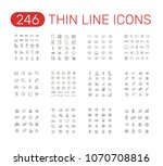 set of thin line icons... | Shutterstock .eps vector #1070708816